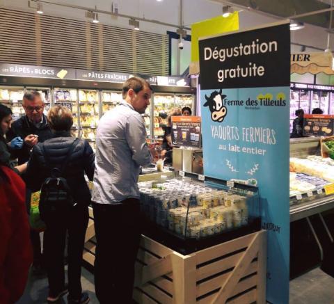 Ouverture d'un magasin Grand Frais à Balma (Toulouse 31): les yaourts de la Ferme des Tilleuls sont au rendez-vous !!
